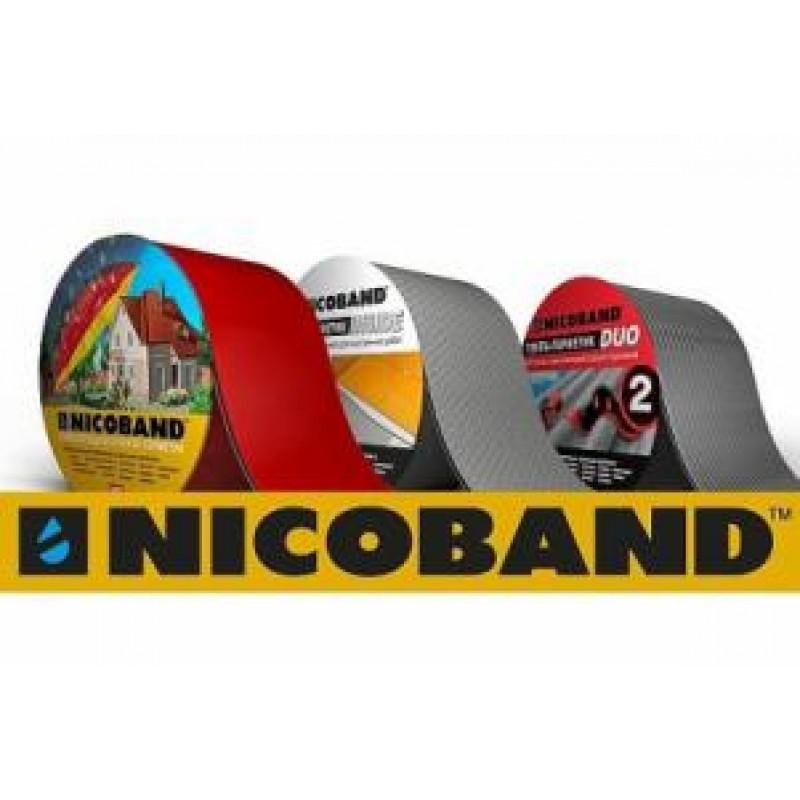 Nicoband герметизирующая лента 10м х10 см (цвет коричневый, красный, зеленый, серебристый)