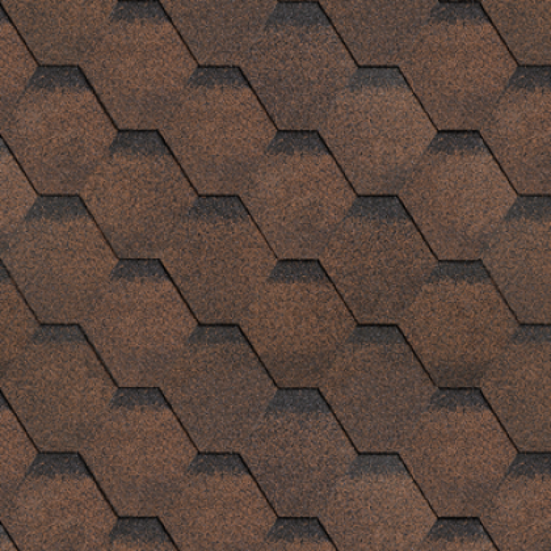 Черепица Shinglas Финская Соната коричневая