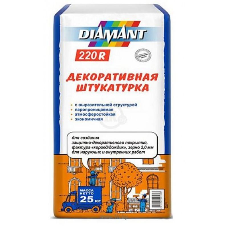 "Декоративная штукатурка ""короед"" 2мм Diamant 220R, 25кг"